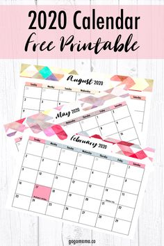 Editable 2020 Calendar with Holidays Printable - Gogo Mama 12 Month Calendar, Monthly Planner Printable, Printable Calendar Template, Kids Calendar, 2021 Calendar, Free Printables, Free Planner, Day Use, Appointments