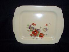 Homer Laughlin China Flanders Poppy Serving Platter Tray