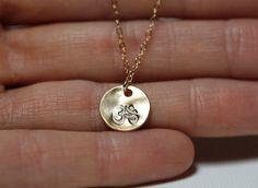 Gold Yoga Necklace Yoga Jewelry Om Necklace Ohm by MinimalVS