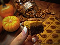 Infused Chai Pumpkin Spice Fudge Bars with Maple Pumpkin Butter Frosting