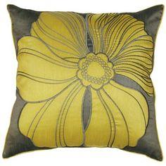 Lush Decor Pop Art Pillows (Set of 2) in Yellow / Gray