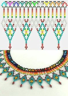 This Pin was discovered by HatPin by Elena Nitchman Culcer on Beautiful Beaded Jewelry, etc . Diy Necklace Patterns, Seed Bead Patterns, Beaded Jewelry Patterns, Beading Patterns, Seed Bead Jewelry, Bead Jewellery, Beaded Earrings, Beaded Bracelets, Jewelry Crafts