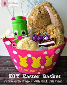 Looking for an easy project to do on your Silhouette cutting machine for Easter? Then you will love this DIY Easter Bunny Basket!