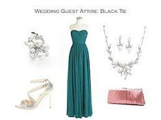 Image result for black tie formal wedding guest pics