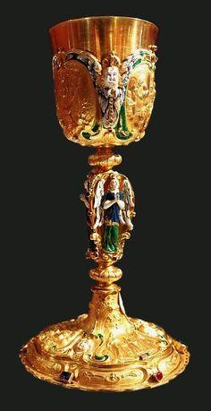 Golden chalice of Wojciech Tolibowski, bishop of Poznań by Stanisław Szwarc in Poznań, 1663, Muzeum Archidiecezjalne w Poznaniu