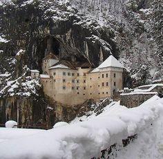 Predjama Castle, Predjama, Inner Carniola, Slovenia. http://www.castlesandmanorhouses.com/photos.htm Renaissance castle within a cave mouth. via Twitter @AlistairReign & AlistairReignBlog.com