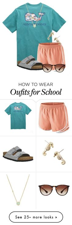 TODAY IS THE LAST DAY OF SCHOOL! by flroasburn on Polyvore featuring Vineyard Vines, NIKE, Birkenstock, Ray-Ban, Cole Haan and Lilly Pulitzer