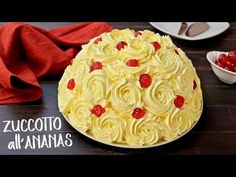 TORTA ZUCCOTTO ALL'ANANAS SENZA COTTURA Ricetta Facile - No Bake Pineapple Rose Cake Easy Recipe - YouTube Easy Cake Recipes, Dessert Recipes, Fun Recipes, Cheesecakes, Flan, Good Food, Yummy Food, Cooking Cake, Rose Cake