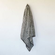 Basketweave Combed Cotton Throw