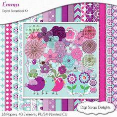 Digital Scrapbooking Emma Digital Scrapbook by DigiScrapDelights, $5.00