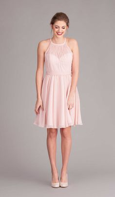 Perfect mix and match bridesmaid dresses  Lace and chiffon all one color!