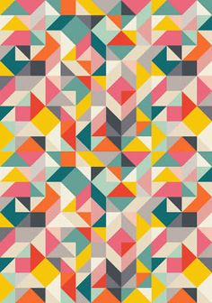 Image result for graphic triangles quilt