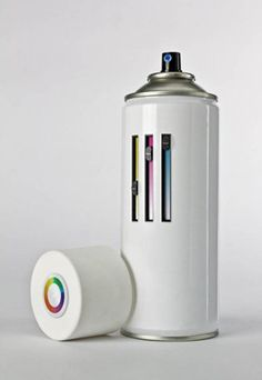 / Packaging Inspiration, Design Inspiration, Daily Inspiration, Creative Inspiration, Poesia Visual, Design Industrial, Modern Industrial, Spray Paint Cans, Spray Painting