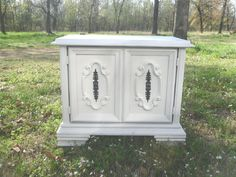 Painted Furniture Vintage Hollywood Regency Night Stand End Table T.V.  Console Shabby Cottage Chic On Etsy