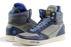 G-Star Raw Men's Fashion Sneakers Yard Pyro Nylon Light Grey/Navy Shoes