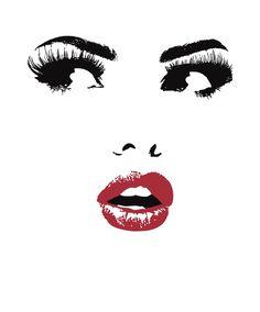 Pin by areli zermeno on bathroom art for in 2019 makeup i Makeup Illustration, Illustration Mode, Art Mural Fashion, Fashion Prints, Art Sketches, Art Drawings, Makeup Artist Logo, Makeup Wallpapers, Lashes Logo