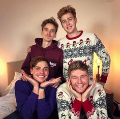 Joe Sugg with Josh Pieters, Byron Langley and Mikey Pearce - Josh Pieters Instagram