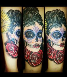 #pinup #dayofthedead #tattoo
