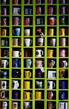 I could build a Wall-O-Mug for myself #Mugs #Cups