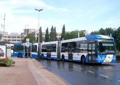 A double articulated bus in Utrecht, Holland