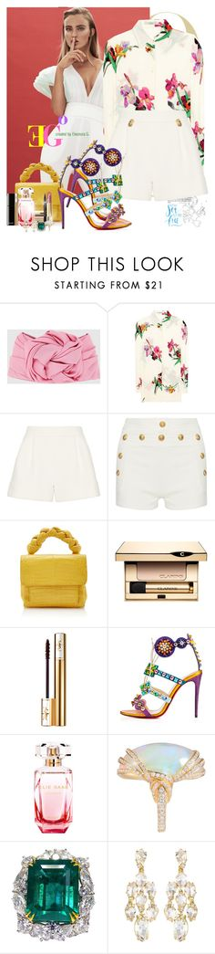 """Toca mi piel"" by eleonoragocevska ❤ liked on Polyvore featuring Gucci, Etro, 3.1 Phillip Lim, Balmain, Nancy Gonzalez, Clarins, Yves Saint Laurent, Chanel, Christian Louboutin and Elie Saab"