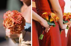 Fall Orange Wedding Flowers - The Wedding SpecialistsThe Wedding Specialists