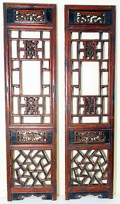 Antique Chinese Screen Panels (3251) (Pair) Cunninghamia wood, Circa 1800-1849
