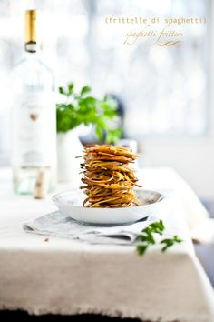 Frittelle di Spaghetti (Spaghetti Fritters) : Playful Cooking