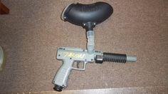 Talon Pump Plastic Paintball Gun / Brass Eagle with VL 200 Viewloader Hopper  #Talon