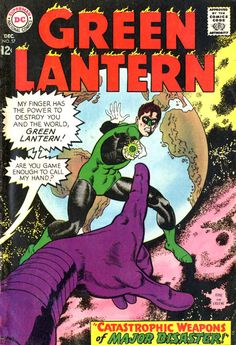 Green Lantern #57, December 1967, cover by Gil Kane and Sid Greene.
