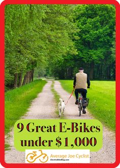 This post compares a selection of 9 of the best cheap e-bikes you can buy for under $1,000. A really great electric bike can cost a lot of money. But the good news is that you CAN buy a decent but cheap e-bike. Read this post; pick out your very own budget ebike; try it out; and experience the joy of electric biking! #AverageJoeCyclist #ebikes #cycling Cheap Electric Bike, Electric Bike Review, Best Electric Bikes, Folding Electric Bike, Cycling For Beginners, Buy Bicycle, Electric Mountain Bike, Average Joe, Bike Brands
