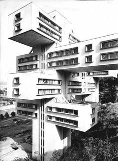 Ministry of Highways - Tbilisi - Georgia - 1977 - Architects : G. Chakhava, Z. Dzhalaganiya -   Engineers : T. Tkhilova, A. Kimberg