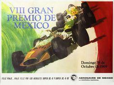 Artist Unknown poster: VIII Gran Premio de Mexico