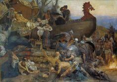 Viking ship burial- funeral custom