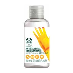 Mango hand sanitizer from the Body Shop.