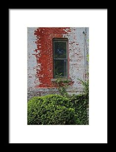 Old West End Mary Manse College Terrault House Window Framed Print