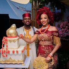Igbo Traditional Engagement: Bride Price List For Grooms Preparing For Marriage Introduction. Igbo traditional engagement is thought to be one of African Wedding Cakes, African Wedding Attire, African Weddings, African Traditional Wedding Dress, Traditional Wedding Attire, Traditional Weddings, Traditional Cakes, Extravagant Wedding Cakes, Igbo Bride