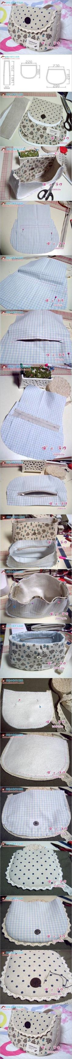 DIY How to Sew a Simple Summer Handbag by amandawest