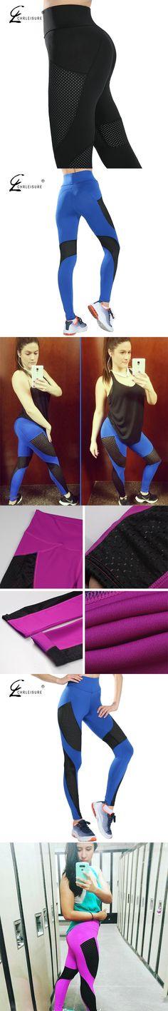 26aff43e372e6 CHRLEISURE S-XL 3 Color Sexy Push Up Mesh Leggings Fashion Adventure Time  Polyester Breathable Leggings Women