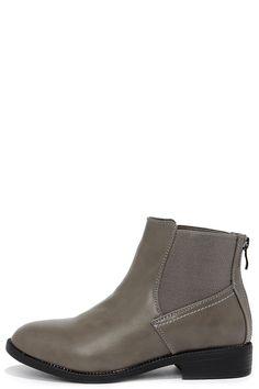 Monday's Post Dark Grey Chelsea Boots at Lulus.com!