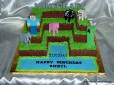 Images Of Minecraft Creeper Cake Topper Wallpaper Minecraft Party, Bolo Minecraft, 10th Birthday Parties, Birthday Fun, Birthday Ideas, Birthday Cakes, Creeper Cake, Minecraft Designs, Golden Birthday