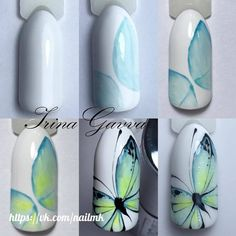 Heat Up Your Life with Some Stunning Summer Nail Art Butterfly Nail Designs, Butterfly Nail Art, Nail Art Designs, Nail Manicure, Diy Nails, Cute Nails, Animal Nail Art, Dot Nail Art, Picasso Nails