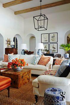 Designer Lookbook Summer Thornton S Mediterranean Home Makeover Living Room