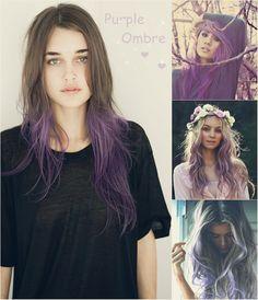 Resultado de imagen para purple hair ombre