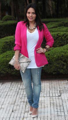 Jeans e Blazer Pink