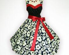 81d1b9c68 Artículos similares a Black Sweet Heart Purple Polka Dot 50s Pin up  Rockabilly Swing Dress Full Swing Skirt Plus Size 18 20 22 en Etsy