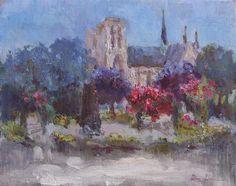 Paris Rose Garden by Oksana Johnson - oil painting | UGallery