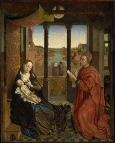 Rogier van der Weyden, Saint Luke Drawing the Virgin, c.1435-40