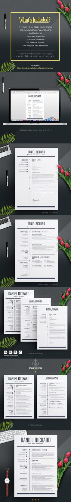 5 Page Resume CV Template Resume Resume Design Pinterest Cv - resume 5 pages