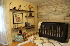 """Melissa & Kevin's """"All About the DIYs"""" in Old Rosedale. Love the wall."""